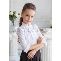 "Блузка белого цвета с рукавами 3/4 ""Николетта"""