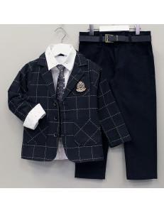 """Костюм для мальчиков с пиджаком темно-синего цвета """"Рыцарь"""""""