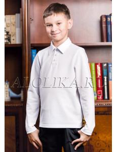 Джемпер поло для мальчиков белого цвета