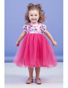 """Платье нарядное малинового цвета с узорами """"Spring"""""""