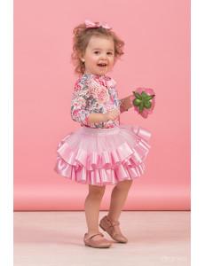 """Комплект нарядный для малышек розового цвета из трех предметов """"Тортик"""""""